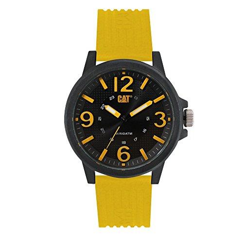 キャタピラー タフネス 腕時計 メンズ 頑丈 【送料無料】CAT Groovy Yellow Men Watch, 44.5 mm case, Polycarbonate case, Yellow Silicone Strap, Black/Yellow dial (LF.111.27.137) (Yellow/Black)キャタピラー タフネス 腕時計 メンズ 頑丈