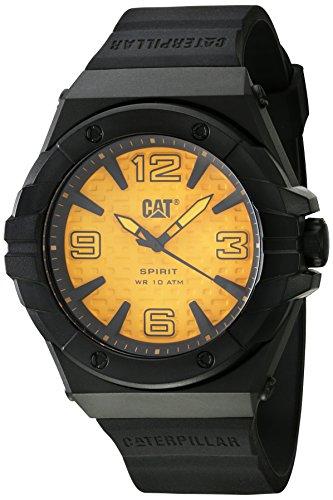 キャタピラー タフネス 腕時計 メンズ 頑丈 【送料無料】CAT Spirit II Black Men Watch, 46.5 mm case, Polycarbonate case, Black Silicone Strap, Yellow dial (LE.111.21.731) (Yellow/Black)キャタピラー タフネス 腕時計 メンズ 頑丈