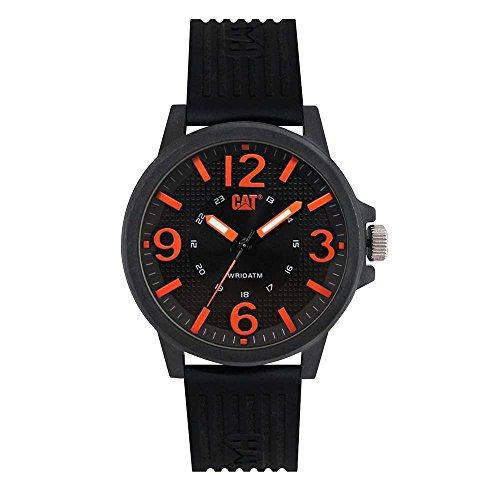 キャタピラー タフネス 腕時計 メンズ 頑丈 【送料無料】CAT Groovy Black/Orange Men Watch, 44.5 mm case, Polycarbonate case, Black Silicone Strap, Black/Orange dial (LF.111.21.134) (Black/Orange)キャタピラー タフネス 腕時計 メンズ 頑丈