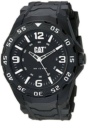 腕時計 キャタピラー メンズ タフネス 頑丈 【送料無料】CAT Motion Men's Analog Black Watch LB11121132腕時計 キャタピラー メンズ タフネス 頑丈
