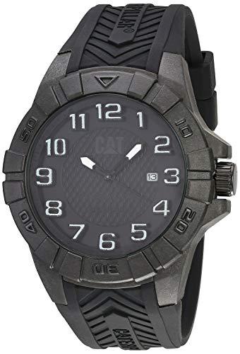 腕時計 キャタピラー メンズ タフネス 頑丈 【送料無料】CAT Special OPS 1 Black Men Watch, 45.5 mm case, Black face, Date display, Carbon Fiber case, Black silicone strap, Black dial (K2.121.21.111)腕時計 キャタピラー メンズ タフネス 頑丈