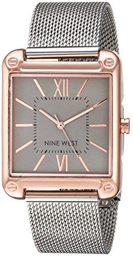 ナインウェスト 腕時計 レディース 【送料無料】Nine West Women's Rose Gold-Tone and Silver-Tone Mesh Bracelet Watchナインウェスト 腕時計 レディース