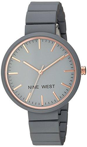 ナインウェスト 腕時計 レディース 【送料無料】Nine West Women's NW/2012GYRG Matte Grey Rubberized Bracelet Watchナインウェスト 腕時計 レディース