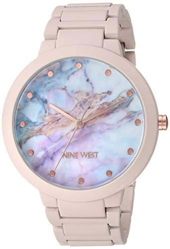 ナインウェスト 腕時計 レディース 【送料無料】Nine West Women's NW/2274MAPK Rubberized Pink Bracelet Watchナインウェスト 腕時計 レディース
