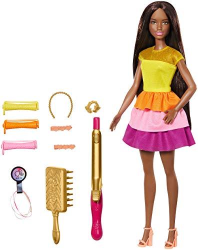 バービー バービー人形 ファッショニスタ 【送料無料】?Barbie Ultimate Curls Brunette Doll and Hairstyling Playset Assortment with No-Heat Curling Iron and Curlers, Plus Hair Accessories, for Kids 3 to 7 Yeバービー バービー人形 ファッショニスタ