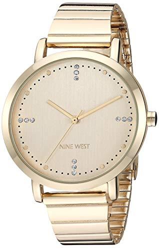 ナインウェスト 腕時計 レディース 【送料無料】Nine West Women's NW/2278CHGP Crystal Accented Gold-Tone Bracelet Watchナインウェスト 腕時計 レディース