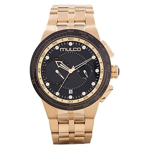 マルコ 腕時計 メンズ 【送料無料】Mulco Lyon Men's Watch- Gold Stainless Steel- Water Resistant- MW3-16106-035マルコ 腕時計 メンズ