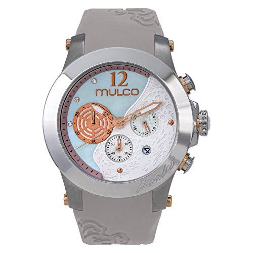 マルコ 腕時計 レディース 【送料無料】Mulco Wind Rock Quartz Multifuncion Movement Women's Watch | Mother of Pearl Sundial with Rose Gold and Swarovski Accents | Silicone Band | Water Resistant Stainless Steel Watch (Beiマルコ 腕時計 レディース