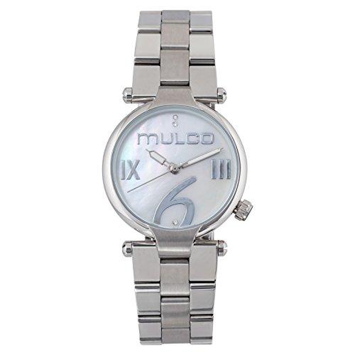 マルコ 腕時計 レディース 【送料無料】Mulco Mini Metal Quartz Slim Analog Women's Watch | Premium Mother of Pearl Sundial Display Modern Classics Accents | Steel Watch Band | Water Resistant Stainless Steel Watch | MW5-5マルコ 腕時計 レディース