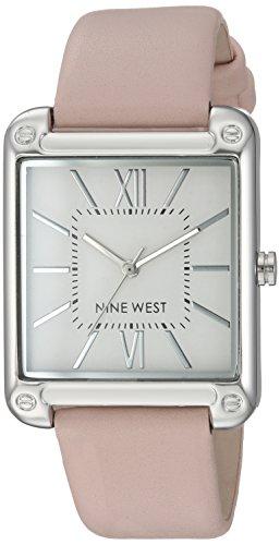 ナインウェスト 腕時計 レディース 【送料無料】Nine West Women's NW/2117SVPK Silver-Tone and Pink Strap Watchナインウェスト 腕時計 レディース