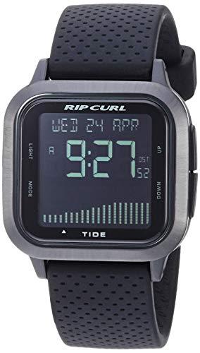 Sport Men's サーフィン (Model: Silicone Strap, Curl Watch サーフィン リップカール with Quartz A1137MID1SZ)腕時計 リップカール サーファー Black, 腕時計 サーファー メンズ メンズ 21.9 【送料無料】Rip