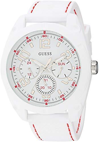 ゲス GUESS 腕時計 メンズ GUESS Comforable White Stain Resistant Silicone Watch with Day, Date + 24 Hour Military/Int'l Time. Color: Black (Model: U1256G1)ゲス GUESS 腕時計 メンズ