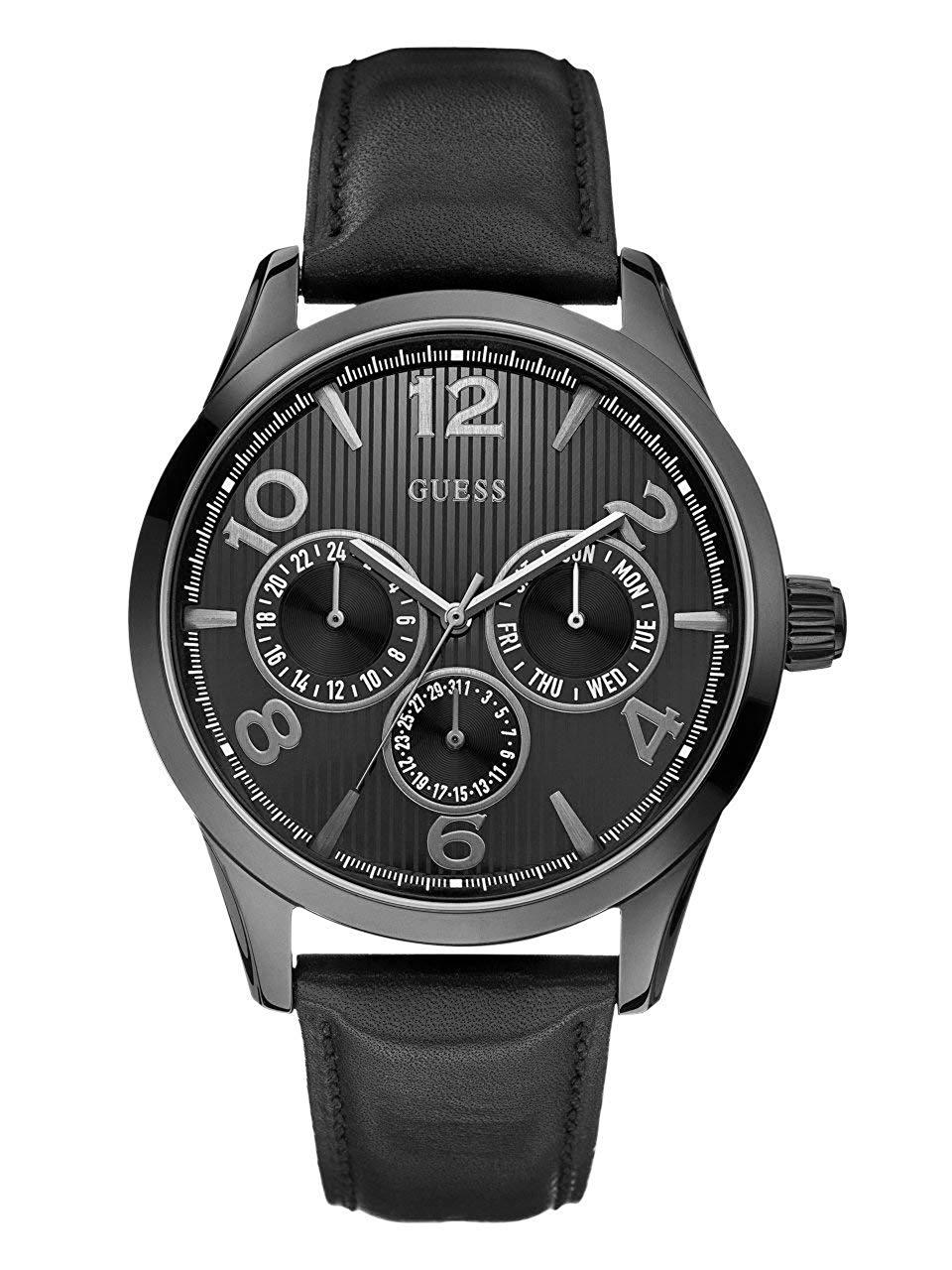 ゲス GUESS 腕時計 メンズ GUESS Factory Men's Black-Tone Multifunction Watchゲス GUESS 腕時計 メンズ