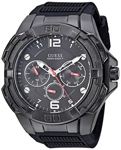 ゲス GUESS 腕時計 メンズ 【送料無料】GUESS Men's Oversized Black Stain Resistant Silicone Watch with Day, Date + 24 Hour Military/Int'l Time. Color: Black (Model: U1254G2)ゲス GUESS 腕時計 メンズ