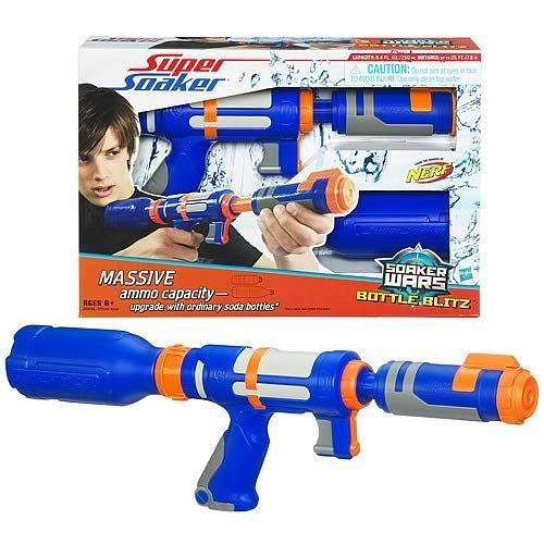 ナーフ 水鉄砲 アメリカ 直輸入 スーパーソーカー 【送料無料】NERF Super Soaker: Soaker Wars Bottle Blitz (Blue) [Toy]ナーフ 水鉄砲 アメリカ 直輸入 スーパーソーカー