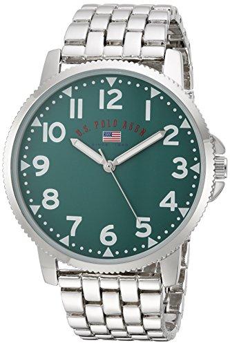 ユーエスポロアッスン 腕時計 メンズ U.S. Polo Assn. Men's Analog-Quartz Watch with Alloy Strap, Silver, 21 (Model: US8801)ユーエスポロアッスン 腕時計 メンズ