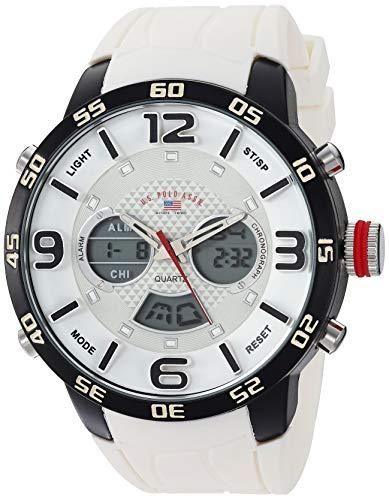 ユーエスポロアッスン 腕時計 メンズ 【送料無料】U.S. Polo Assn. Men's Analog-Quartz Watch with Rubber Strap, White, 24 (Model: US9542)ユーエスポロアッスン 腕時計 メンズ