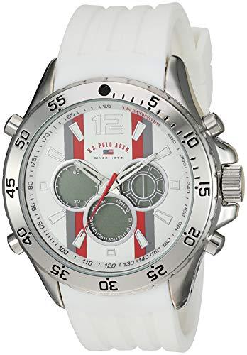 ユーエスポロアッスン 腕時計 メンズ 【送料無料】U.S. Polo Assn. Men's Stainless Steel Quartz Watch with Rubber Strap, White, 23 (Model: US9530)ユーエスポロアッスン 腕時計 メンズ