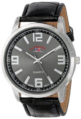 ユーエスポロアッスン 腕時計 メンズ U.S. Polo Assn. Classic Men's US5165 Black Dial Black Crocodile Strap Watchユーエスポロアッスン 腕時計 メンズ