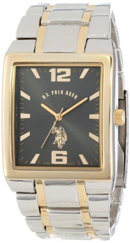 ユーエスポロアッスン 腕時計 メンズ U.S. Polo Assn. Classic Men's USC80029 Two-Tone Rectangular Black Dial Link Watchユーエスポロアッスン 腕時計 メンズ