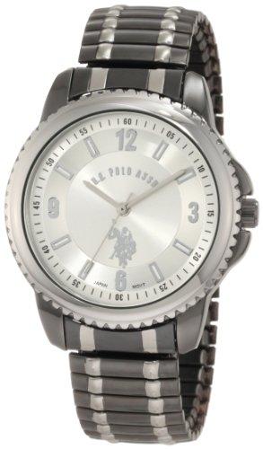 ユーエスポロアッスン 腕時計 メンズ U.S. Polo Assn. Classic Men's USC80189 Horseman Round Case Gun-metal/Silver-tone Expansion Watchユーエスポロアッスン 腕時計 メンズ