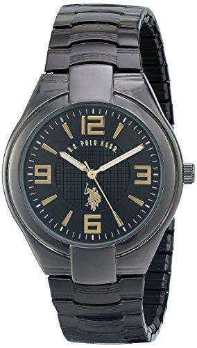 ユーエスポロアッスン 腕時計 メンズ 【送料無料】U.S. Polo Assn. Classic Men's USC80018 Gunmetal Black Dial Expansion Watchユーエスポロアッスン 腕時計 メンズ