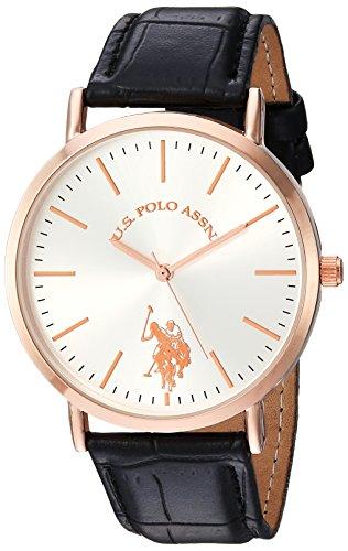 ユーエスポロアッスン 腕時計 レディース 【送料無料】U.S. Polo Assn. Women's Analog-Quartz Watch with Leather-Synthetic Strap, Pink, 20 (Model: USC42028????)ユーエスポロアッスン 腕時計 レディース