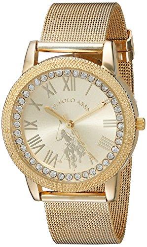 ユーエスポロアッスン 腕時計 レディース U.S. Polo Assn. Women's Analog-Quartz Watch with Alloy Strap, Gold, 18 (Model: USC40110)ユーエスポロアッスン 腕時計 レディース