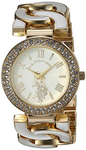 ユーエスポロアッスン 腕時計 レディース 【送料無料】U.S. Polo Assn. Women's Analog-Quartz Watch with Alloy Strap, White, 23 (Model: USC40266AZ)ユーエスポロアッスン 腕時計 レディース