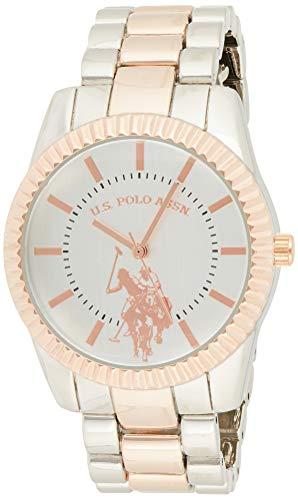 ユーエスポロアッスン 腕時計 レディース 【送料無料】U.S. Polo Assn. Women's Analog-Quartz Watch with Alloy Strap, Two Tone, 8 (Model: USC40263)ユーエスポロアッスン 腕時計 レディース