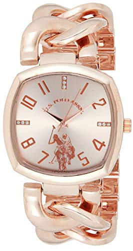 ユーエスポロアッスン 腕時計 レディース 【送料無料】U.S. Polo Assn. Women's Analog-Quartz Watch with Alloy Strap, Rose Gold, 11 (Model: USC40251AZ)ユーエスポロアッスン 腕時計 レディース