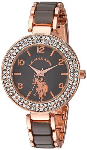 ユーエスポロアッスン 腕時計 レディース U.S. Polo Assn. Women's Analog-Quartz Watch with Alloy Strap, Two Tone, 8 (Model: USC40247AZ)ユーエスポロアッスン 腕時計 レディース