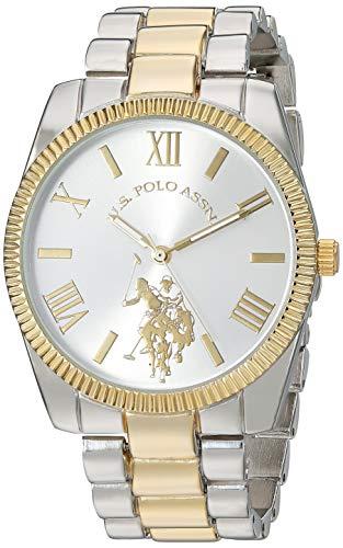 ユーエスポロアッスン 腕時計 レディース 【送料無料】U.S. Polo Assn. Women's Stainless Steel Quartz Watch with Alloy Strap, Two Tone, 19 (Model: USC40253)ユーエスポロアッスン 腕時計 レディース