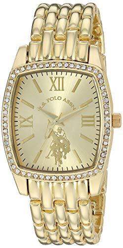 ユーエスポロアッスン 腕時計 レディース 【送料無料】U.S. Polo Assn. Women's Stainless Steel Quartz Watch with Alloy Strap, Gold, 18 (Model: USC40234)ユーエスポロアッスン 腕時計 レディース