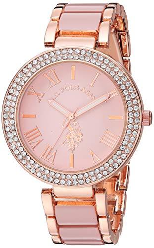 ユーエスポロアッスン 腕時計 レディース 【送料無料】U.S. Polo Assn. Women's Rose-Gold Stainless Steel Quartz Watch with Alloy Strap, Silver, 18 (Model: USC40220)ユーエスポロアッスン 腕時計 レディース