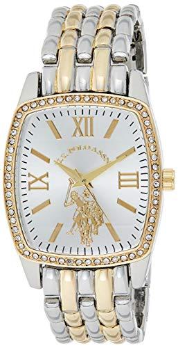ユーエスポロアッスン 腕時計 レディース 【送料無料】U.S. Polo Assn. Women's Analog-Quartz Watch with Alloy Strap, Two Tone, 18 (Model: USC40245AZ)ユーエスポロアッスン 腕時計 レディース