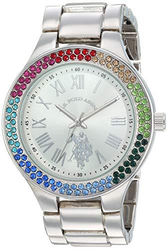 ユーエスポロアッスン 腕時計 レディース 【送料無料】U.S. Polo Assn. Women's Quartz Watch with Alloy Strap, Silver, 21.5 (Model: USC40137)ユーエスポロアッスン 腕時計 レディース