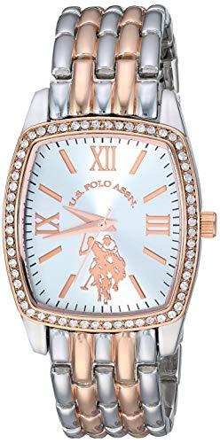 ユーエスポロアッスン 腕時計 レディース 【送料無料】U.S. Polo Assn. Women's Stainless Steel Analog-Quartz Watch with Alloy Strap, Two Tone, 18 (Model: USC40235)ユーエスポロアッスン 腕時計 レディース