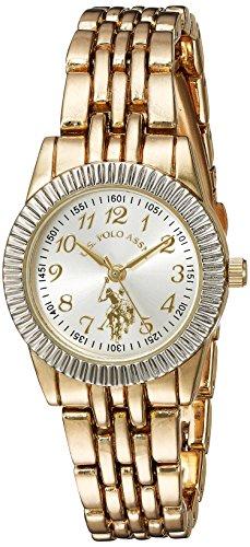 ユーエスポロアッスン 腕時計 レディース 【送料無料】U.S. Polo Assn. Women's Analog-Quartz Watch with Alloy Strap, Gold, 6 (Model: USC40098)ユーエスポロアッスン 腕時計 レディース