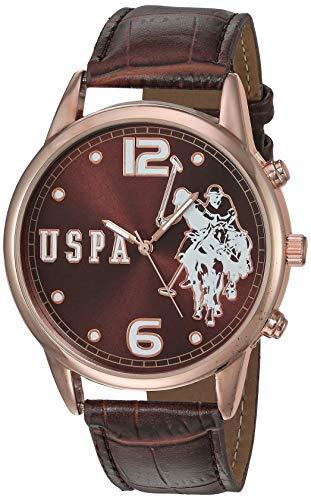ユーエスポロアッスン 腕時計 レディース 【送料無料】U.S. Polo Assn. Women's Quartz Watch with Patent Leather Strap, Brown, 24 (Model: USC50403)ユーエスポロアッスン 腕時計 レディース