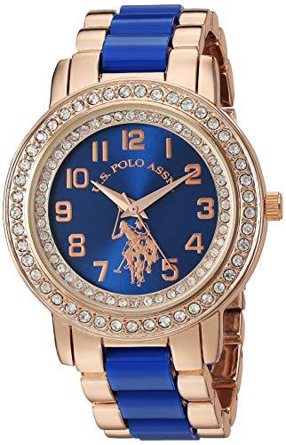 ユーエスポロアッスン 腕時計 レディース 【送料無料】U.S. Polo Assn. Women's Stainless Steel Quartz Watch with Ceramic Strap, Blue, 20 (Model: USC40228)ユーエスポロアッスン 腕時計 レディース