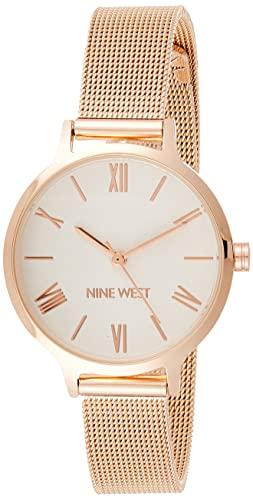 ナインウェスト 腕時計 レディース 【送料無料】Nine West Women's NW/2228SVRG Rose Gold-Tone Mesh Bracelet Watchナインウェスト 腕時計 レディース