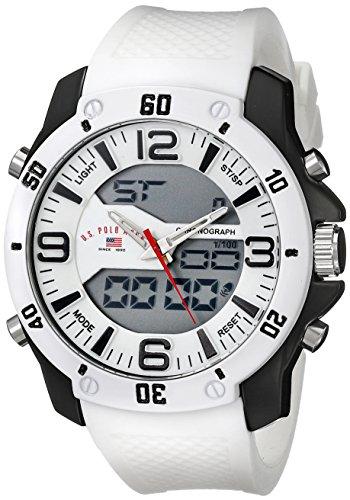 ユーエスポロアッスン 腕時計 メンズ 【送料無料】U.S. Polo Assn. Sport Men's US9471 Analog-Digital White Watchユーエスポロアッスン 腕時計 メンズ