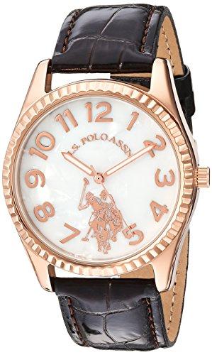 ユーエスポロアッスン 腕時計 レディース 【送料無料】U.S. Polo Assn. Women's Analog-Quartz Watch with Leather-Synthetic Strap, Brown, 20 (Model: USC42026AZ)ユーエスポロアッスン 腕時計 レディース