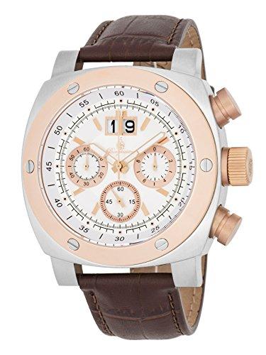 ブルゲルマイスター ドイツ高級腕時計 メンズ 【送料無料】Burgmeister Men's Stainless Steel Quartz Watch with Leather Calfskin Strap, Brown, 24 (Model: BM348-315)ブルゲルマイスター ドイツ高級腕時計 メンズ