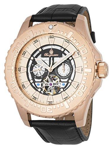 ブルゲルマイスター ドイツ高級腕時計 メンズ 【送料無料】Burgmeister Men's Stainless Steel Automatic-self-Wind Watch with Leather Calfskin Strap, Black, 26 (Model: BM339-322)ブルゲルマイスター ドイツ高級腕時計 メンズ
