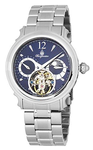 ブルゲルマイスター ドイツ高級腕時計 メンズ 【送料無料】Burgmeister Men's Automatic-self-Wind Watch with Stainless-Steel Strap, Silver, 22 (Model: BM345-131)ブルゲルマイスター ドイツ高級腕時計 メンズ