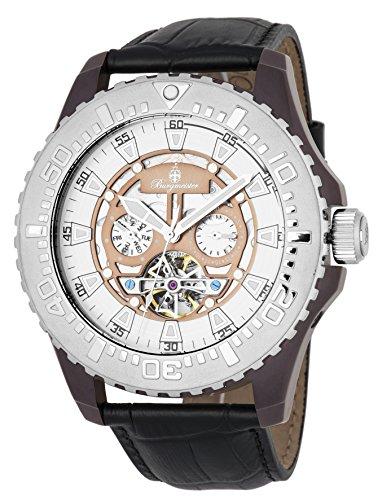 ブルゲルマイスター ドイツ高級腕時計 メンズ 【送料無料】Burgmeister Men's Stainless Steel Automatic-self-Wind Watch with Leather Calfskin Strap, Black, 26 (Model: BM339-942)ブルゲルマイスター ドイツ高級腕時計 メンズ