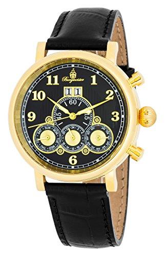 """ブルゲルマイスター ドイツ高級腕時計 メンズ 【送料無料】Burgmeister Men""""s Stainless Steel Automatic-self-Wind Watch with Leather Calfskin Strap, Black, 20 (Model: BM338-292)ブルゲルマイスター ドイツ高級腕時計 メンズ"""