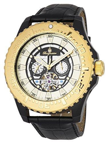 ブルゲルマイスター ドイツ高級腕時計 メンズ 【送料無料】Burgmeister Men's Stainless Steel Automatic-self-Wind Watch with Leather Calfskin Strap, Black, 26 (Model: BM339-672)ブルゲルマイスター ドイツ高級腕時計 メンズ